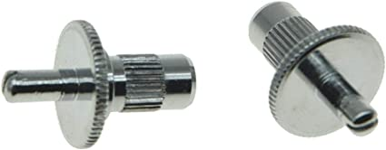 Locking Tailpiece Mounting Chrome Steel Studs US-threads fits Gibson Guitars