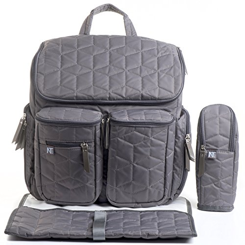 quilted diaper bag - 9