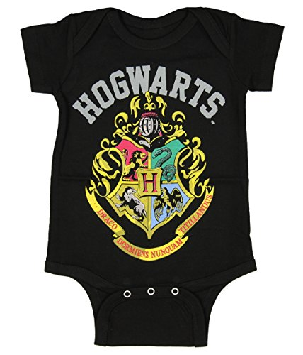 Harry Potter Unisex Baby Hogwarts Crest One Piece Snapsuit 6M