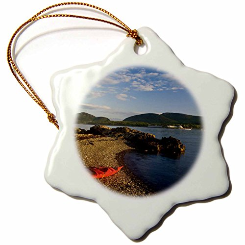 - 3dRose ORN_90710_1 Kayaking, Acadia Np, Bar Harbor, Maine-Us20 Jmo1151-Jerry and Marcy Monkman-Snowflake Ornament, 3-Inch, Porcelain