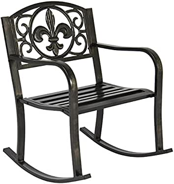 Delicieux Best Choice Products Patio Metal Rocking Chair Porch Seat Deck Outdoor  Backyard.