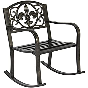 Groovy Amazon Com Topeakmart Set Of 2 Porch Rocking Chair Sturdy Gamerscity Chair Design For Home Gamerscityorg
