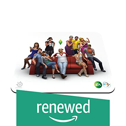 Renewed  SteelSeries Qck The Sims 4 Edition 67292   Mouse pad Mouse Pads