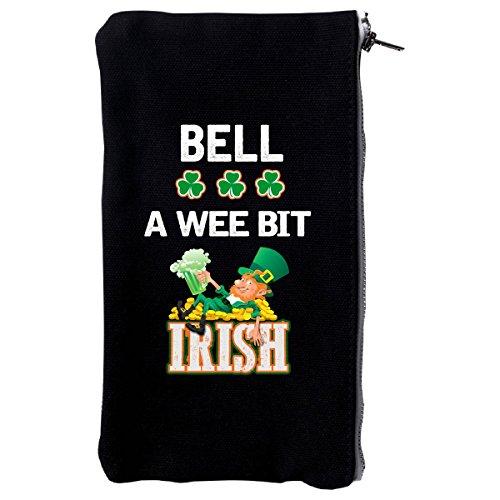 St Patricks Day Gift - Bell A Wee Bit Irish - Make Up Case (Irish Make Up Bell)