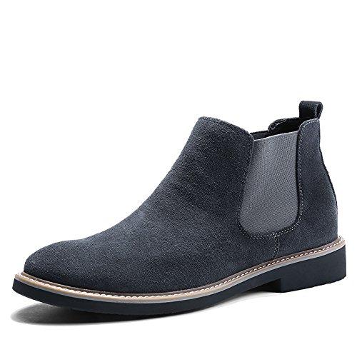 gli uomini sono di moda gli stivali e velvet stivali martin stivali chelsea boots,39,gray