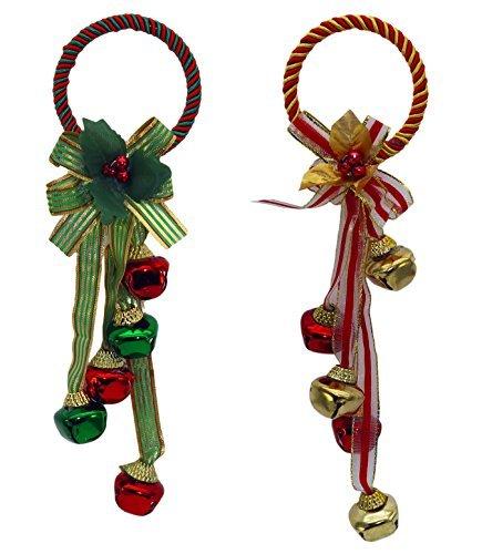 - Set of 2 Jingle Bell Door Greeters in Assorted Colors