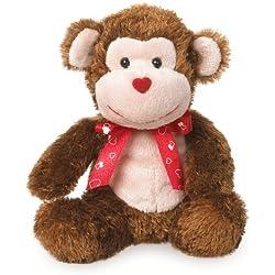 "Boyds Bears Valentine's Day Plush Love Buddies - Smooches Monkey - 6"""