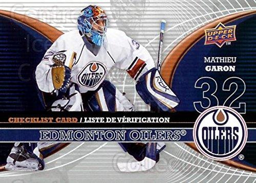 (CI) Mathieu Garon Hockey Card 2008-09 McDonalds Upper Deck Goalie Checklist 2 Mathieu Garon