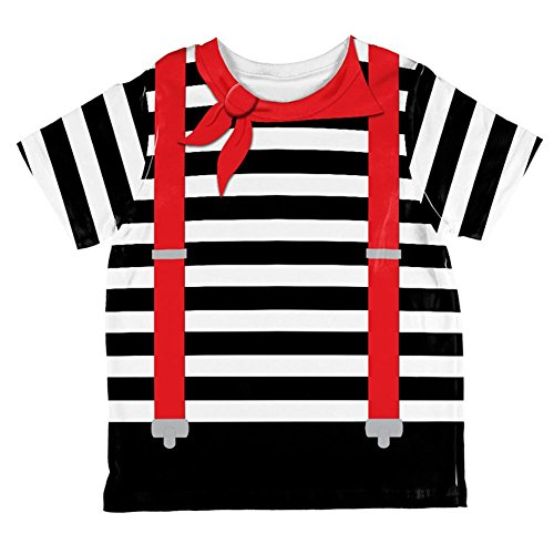 Halloween French Mime Costume All Over Toddler T Shirt Multi -