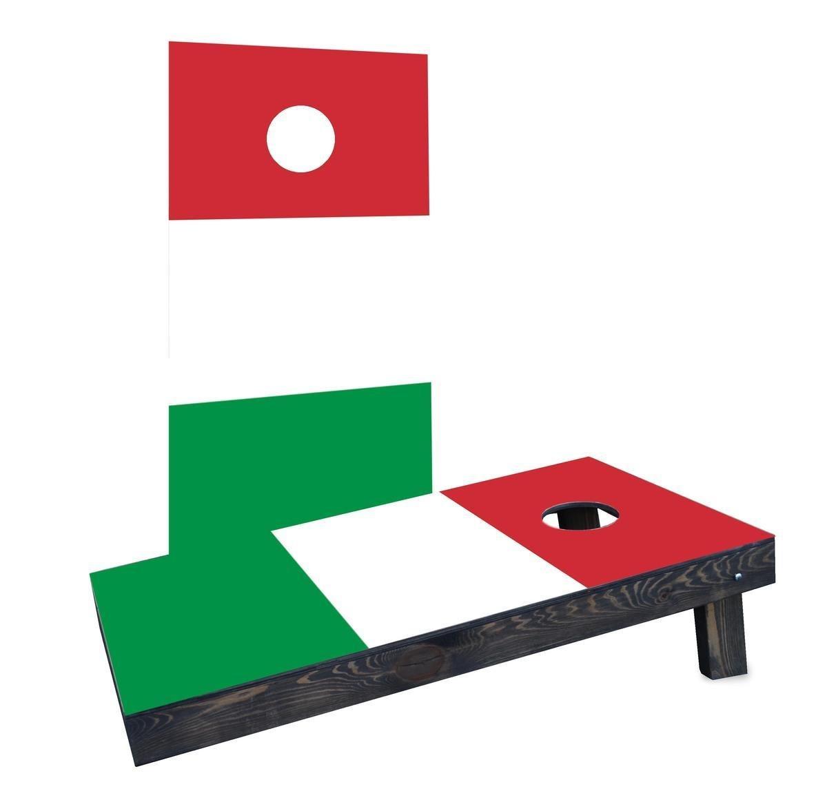 Custom Cornhole Boards Incorporated CCB281-2x4-AW Italy National Flag Cornhole Boards by Custom Cornhole Boards Incorporated