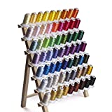 Simthread 63 Brother Colors Polyester 120d/2 40WT Embroidery Machine Thread for Brother Machine - 500M (550 Yrds) Each
