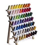 Simthread Polyester Embroidery Machine Thread - 40WT, 63 Colors / Kit, 500M
