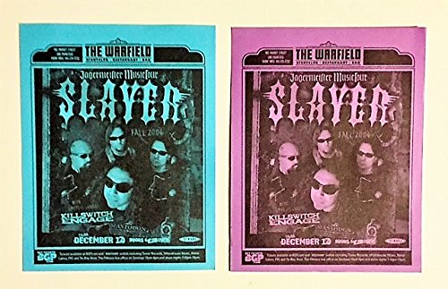 Slayer Handbill Two (2) Warfield Concert - Killswitch Engage - Mastodon