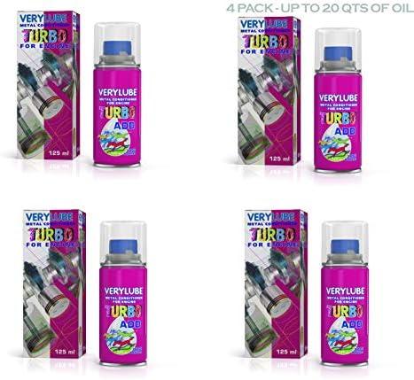 VeryLube Turbo Motor Tratamiento y modificador de fricción – Aditivo de aceite para motor anti fricción 4 Pack (16.8 oz, 4 botellas): Amazon.es: Coche y moto