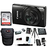 Canon PowerShot ELPH 190 IS 20 MP Digital Camera (Black) w/ 32GB Accessory Bundle