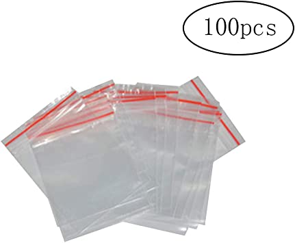 Clear Poly Bags 100 pc 9 x 12 2 mil Reusable Closable Storage Organization Home Office Crafts Jewelry Garage Travel Parts Shipping