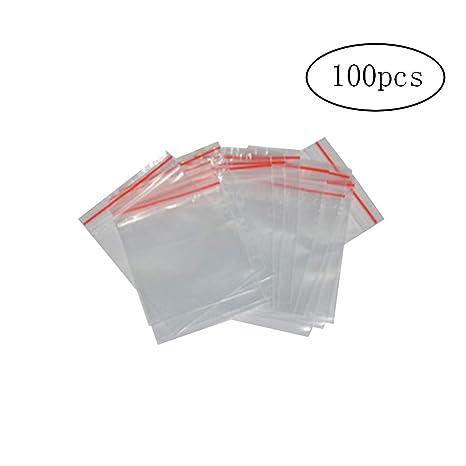 Xiton 100 5x7 Claro Pueden Volver a Cerrar Bolsas con Cremallera Bolsa 4MIL Pequeño Poli Bolsa Puede Volver a Cerrar Bolsas de plástico
