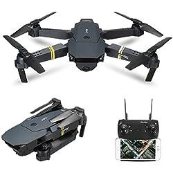 Drone with Wide Angle Camera, EACHINE E58 WIFI FPV Quadcopter With 720P 2MP HD Camera Altitude Hold Mode Foldable APP Control Pocket Drone RTF