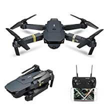 Drone With Camera Live Video, EACHINE E58 WIFI FPV Quadcopter With 2MP Wide Angle Camera Altitude Hold Mode Foldable APP Control Pocket Drone RTF