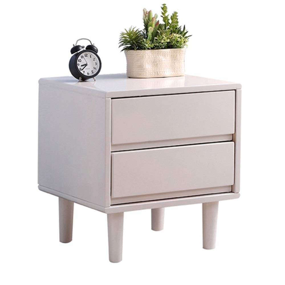 Very Economical Bedroom Nightstands XF Nightstands Bedside Table - Rubber Wood Nordic Double Drawer Bedroom  Bedside Storage Small Cabinet Drawers economical Environmental Furniture  Bedroom ...