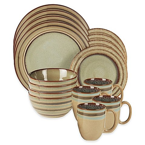 American Atelier Zola 16-Piece Dinnerware Set in Brown by American Atelier