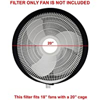 New Fan Buddy Fan Filter with Replaceable Activated Carbon Layers - Made for 18 Circular Fan FILTER ONLY, Fan Not Included