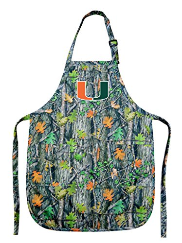 Broad Bay University of Miami Apron CAMO Miami Canes Aprons for Men or Women by Broad Bay