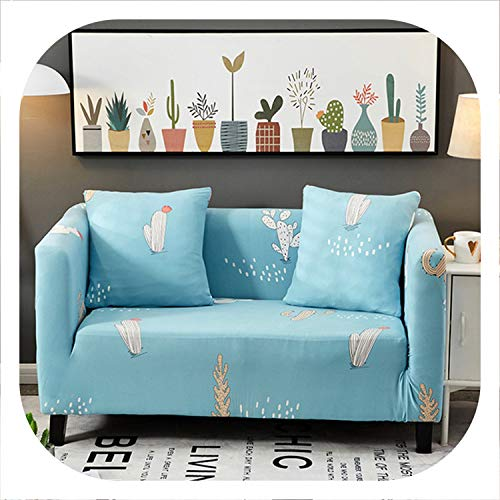 1/2/3/4 Seater Sofa Covers Chair Couch Protect Stretch Elastic Loveseat Slipcover for Living Room Sofa Cover,Color 1,45-45cm Pillowcase-2