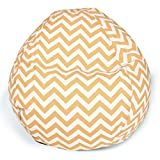 Product review for Majestic Home Goods Classic Bean Bag Chair - Chevron Giant Classic Bean Bags for Small Adults and Kids (28 x 28 x 22 Inches) (Yellow)
