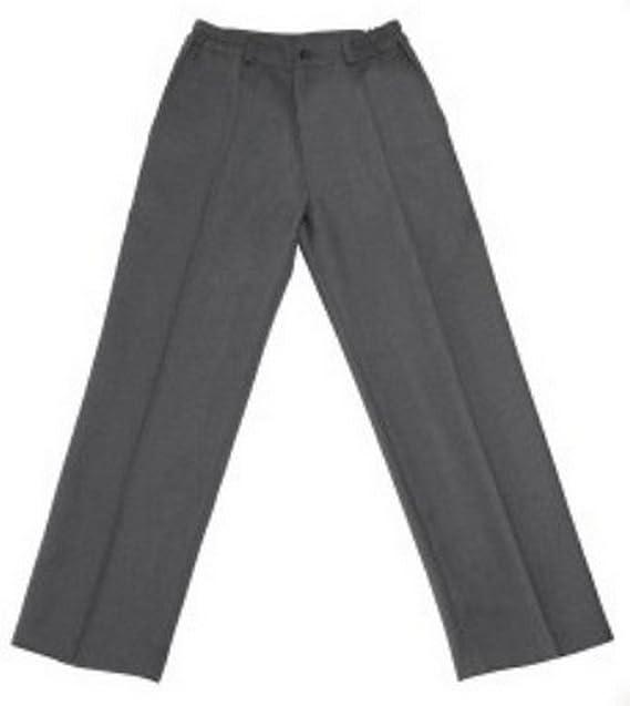 f48e6b2738afa Pantalón uniforme escolar gris largo 100% poliéster- Fabricación ...