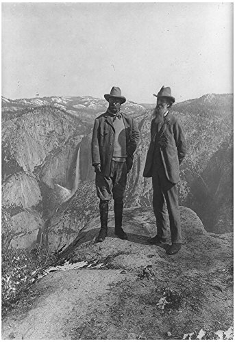 Theodore Roosevelt with John Muir Archival Photo Poster Print 13 x 19in by Poster Revolution