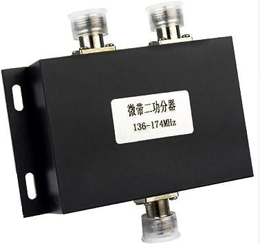 2 Way VHF Antenna Power Splitter Radio Repeater Power Divider ...