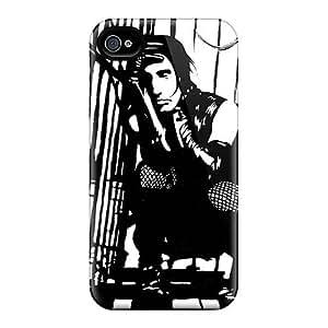 Iphone 4/4s ELy16550LAbM Customized Stylish The Beatles Pattern Shock Absorption Hard Phone Cases -LauraAdamicska