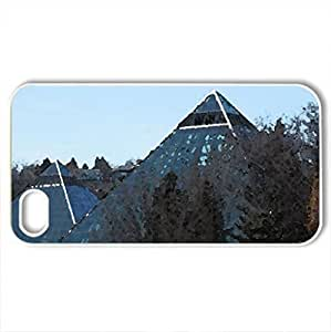 The pyramids of Alberta - Case Cover for iPhone 4 and 4s (Sky Series, Watercolor style, White)