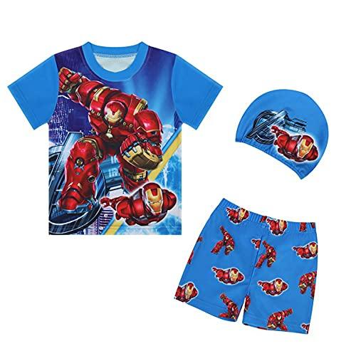 Avenger Boy Hulk Badpak Zomer Cosplay Strand Zwemmen Kostuum Voor 18 Maanden-8 Jaar Kid Shorts Mouwen Wetsuit UV…