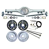 "NEW CURRIE X-BODY REAR END WITH FLANGED AXLES WITH CURRIE 10"" DRUM BRAKE KIT,PARKING BRAKE CABLE KIT,HARDLINE KIT, COMPATIBLE WITH CHEVROLET II 1962-1967,NOVA, WITH MULTI-LEAF SPRINGS"