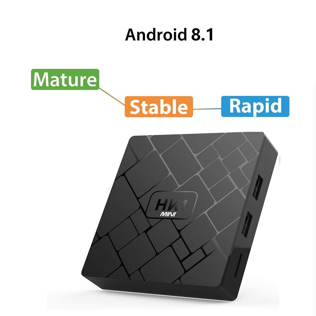 JUNESUN 1Set HK1 Mini Android 8.1 RK3229 2GB+16GB Smart TV Box Quad Core 4K WiFi Video Movie Media Player Set Top Box Device by JUNESUN (Image #8)