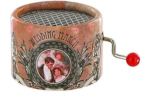 Caja de música / caja musical de manivela de cartón adornado ...