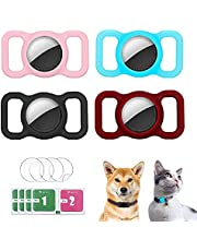 4 Pack Pet Silicone Protective Case Compatible with Apple Airtag GPS Finder Dog Cat Collar Loop, HogarDeco Pet Loop Holder for Air_tag, Anti-Lost Tracker Locator Airtags Accessories