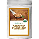 Healthworks Ground Flaxseed Organic Cold-Milled, 2lb
