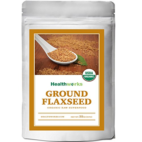 Healthworks Flaxseed Powder 2lb, Organic Ground Cold-Milled