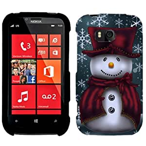 Nokia Lumia 822 Snowman in Red Phone Case Cover