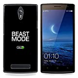 Beast Mode Exercise Rogan Black Text Designed Hard Plastic Protective Case King Case For Oppo Find 7 X9007