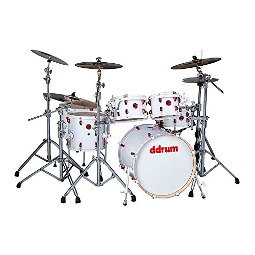 ddrum HYBRID 6 WHT Shell Pack Kit With Triggers, White Wrap ()