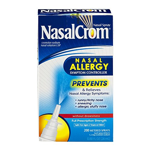 NasalCrom Nasal Allergy Symptom Controller, 200 Metered Sprays,  .88 fl - Allergy Spray Nose