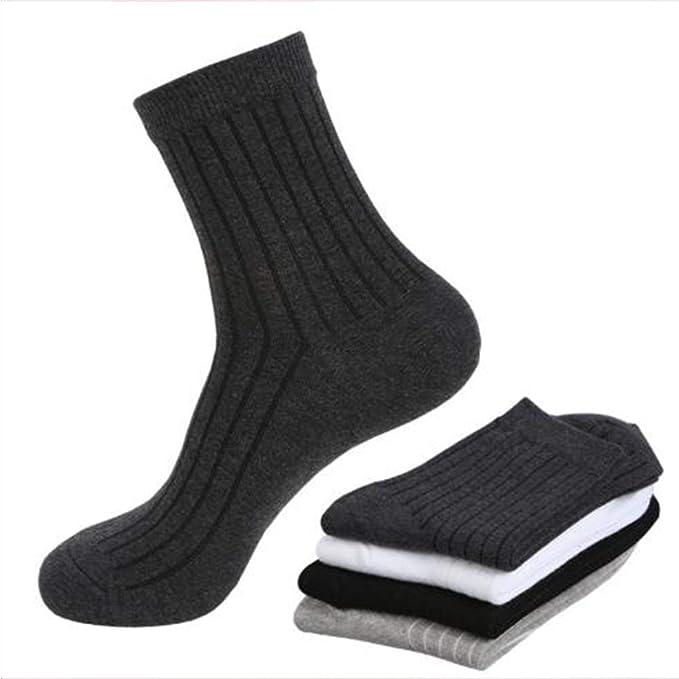 Gengyouyuan Calcetines gruesos calcetines de hombre de hombres de invierno de tubo de algodón calcetines de hombre de negocios [20 pares] (Blanco): ...