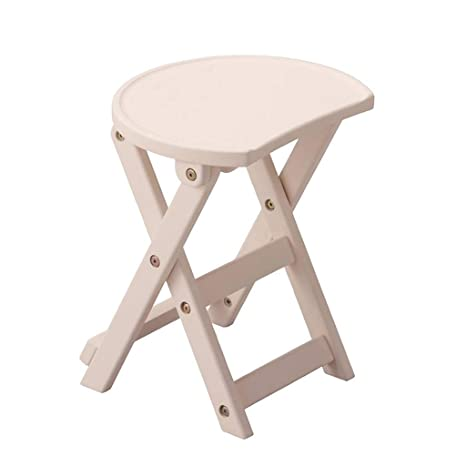 Tremendous Amazon Com Lbs Folding Stool Solid Wood Foldable Wooden Squirreltailoven Fun Painted Chair Ideas Images Squirreltailovenorg