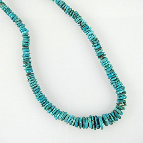Elan Beads Graduated Disk Beads, 3 by 6mm to 3 by 14mm, Blue/Turquoise (Graduated Turquoise Disc)