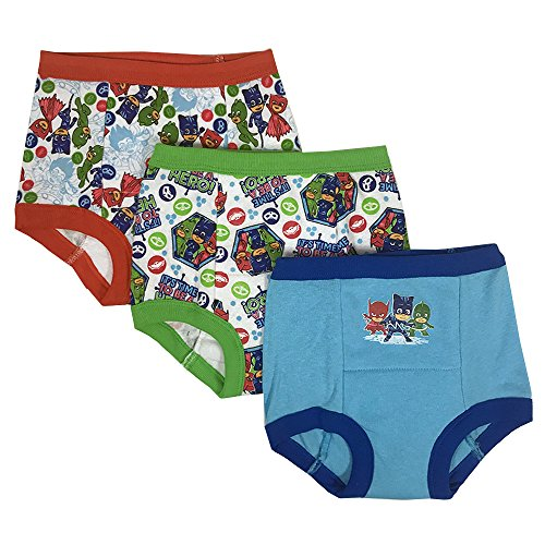 Pack Training Pants 3 (PJ Masks Boys' Toddler 3-Pack Training Pants, PJ Marina Sky/Multi, 3T)