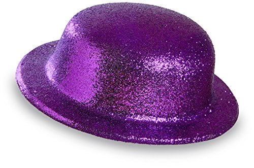 WIDMANN Bowler Hat?Glitter Unisex-adult, Purple, One Size, vd-wdm28045